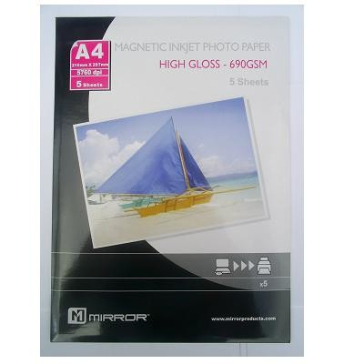 Mirror papel magnetico foto glossy 690 g/m2 pack 5 uds a4