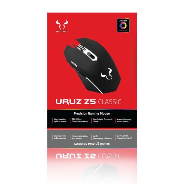 Ratón Riotoro Uruz Z5 RGB Negro