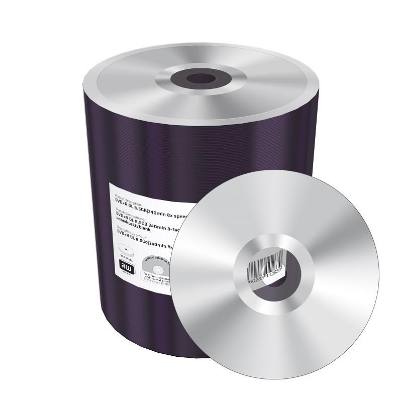 DVD+R Doble Capa 8X MediaRange Bobina 100 uds
