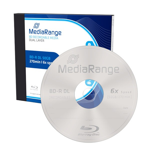 Blu-ray BD-R DL 50GB 6X MediaRange Caja Jewel 1 uds