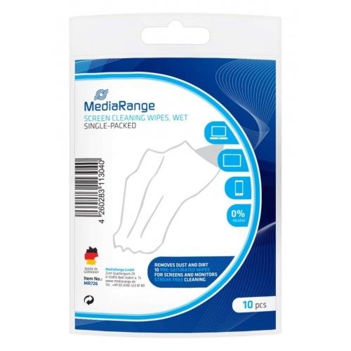 Toallitas de Limpieza para Pantallas MediaRange MR726 10 uds