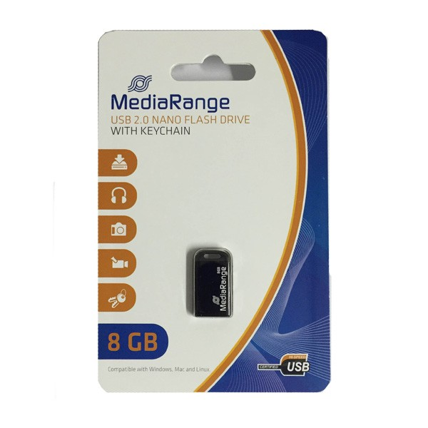 Pendrive 8GB MediaRange Mini Stick MR920