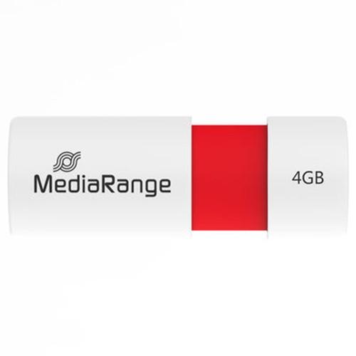 Pendrive 4GB MediaRange MR970 Rojo