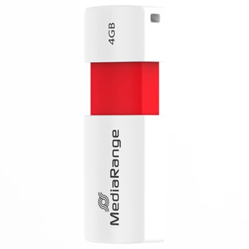 Pendrive 4GB MediaRange MR970 Rojo