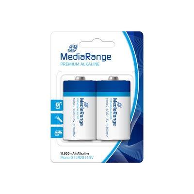 Pila Alcalina D MediaRange pack 2 uds (LR20)