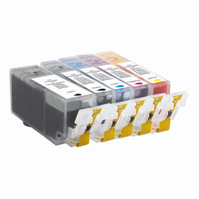 Pack Tinta Compatible PGI-525 y CLI-526 (2x Negro, 1x Color)