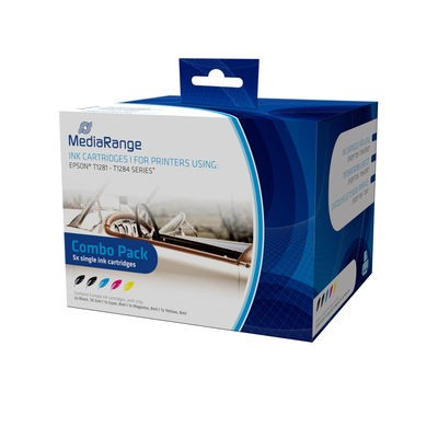 Pack Tinta Compatible MediaRange T1281 - T1284
