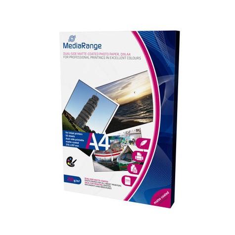 MediaRange Papel Foto Mate Doble Cara 250 G/m2 Pack 50 uds A4