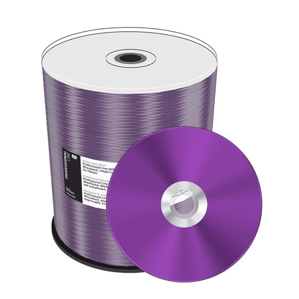DVD+R Doble Capa 8X MediaRange Prof.Line FF Printable 100 uds