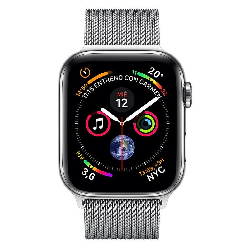Apple Watch Series 4 GPS + Cellular 40mm Acero Plata con Milanese Loop Plata