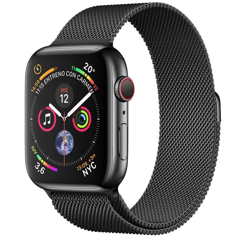 Apple Watch Series 4 GPS + Cellular 40mm Acero Negro con Milanese Loop
