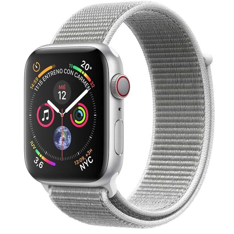 Apple Watch Series 4 GPS + Cellular 44mm Aluminio Plata con Correa Loop Nacar