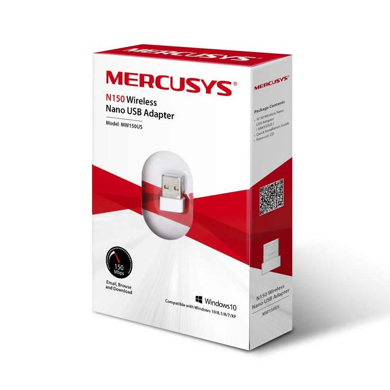Adaptador USB Inalámbrico 150Mbps Mercusys MW150US