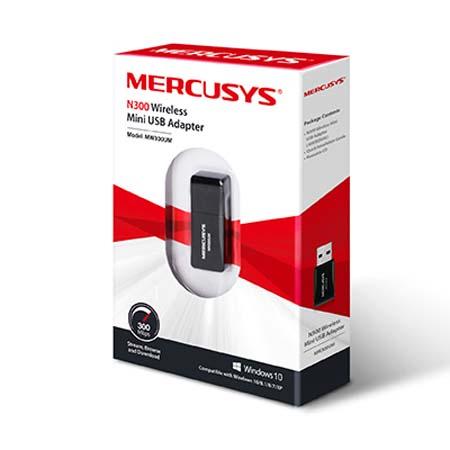 Adaptador USB Inalámbrico 300Mbps Mercusys MW300UM