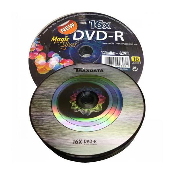 DVD-R 16X Traxdata Magic Silver Bobina 10 uds