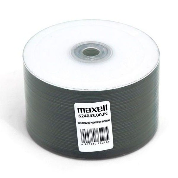 CD-R 52X Maxell InkJet Printable Bobina 50 pcs