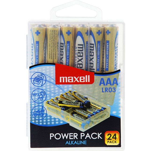 Pila Alcalina AAA Maxell pack 24 uds (LR03)