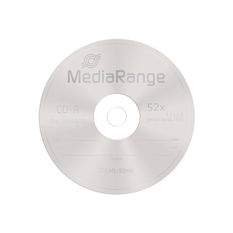 CD-R 52x 700MB MediaRange Tarrina 50 uds