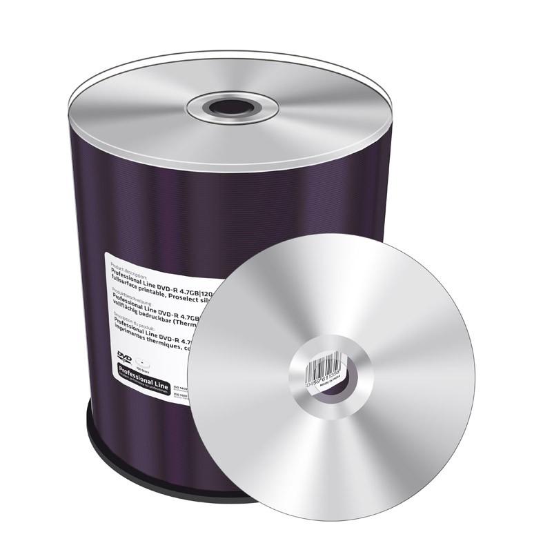 DVD-R 16x Mediarange Professional Line FF Thermal Silver 100 uds