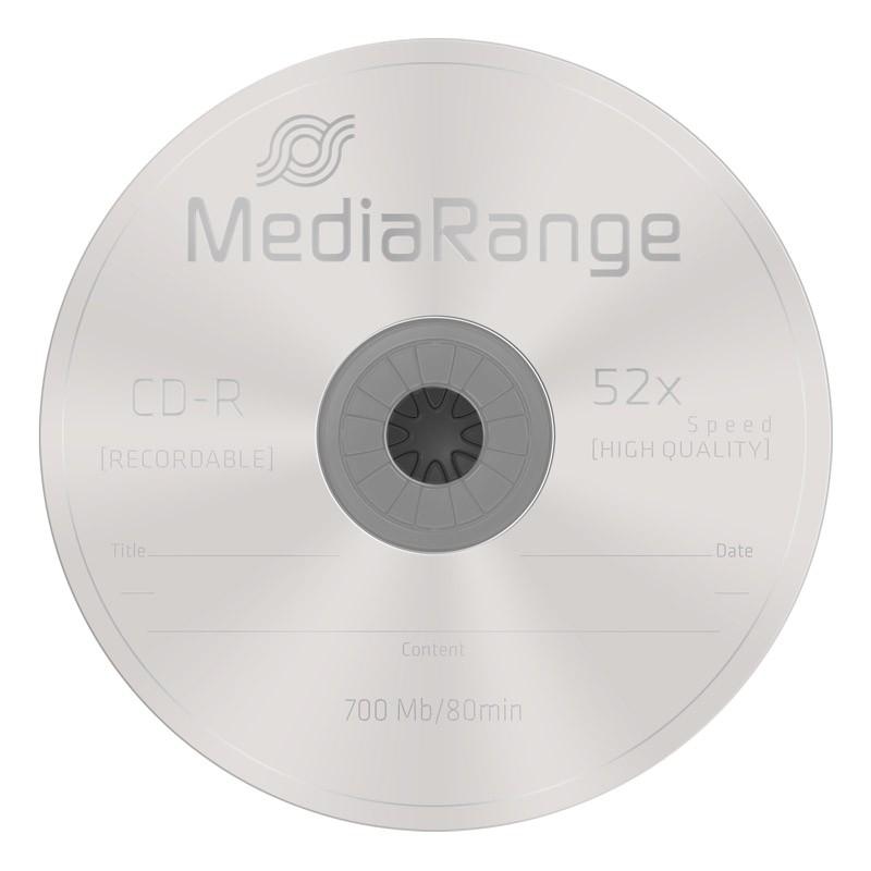 MediaRange Disc Hub Center Adhesivo Negro 100uds
