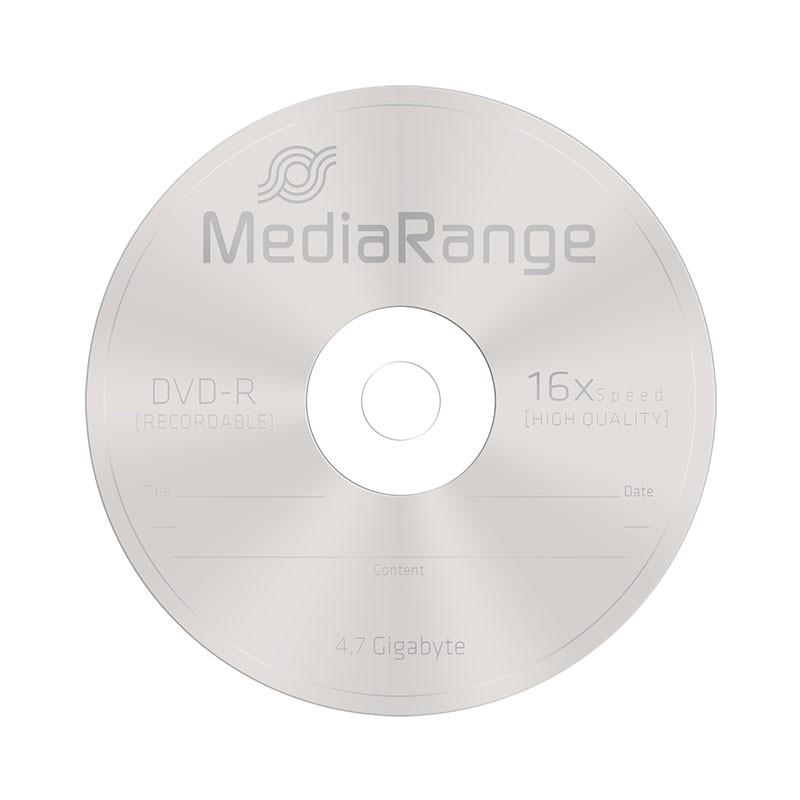 DVD-R 16X MediaRange SlimCase 5 Uds