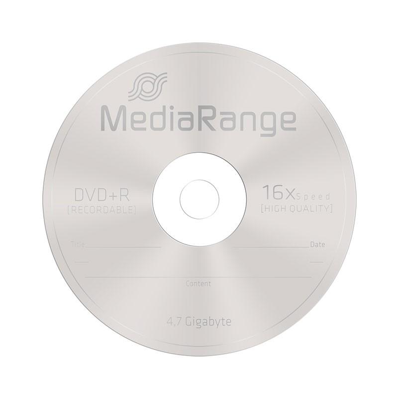 DVD+R 16X MediaRange SlimCase 5 Uds