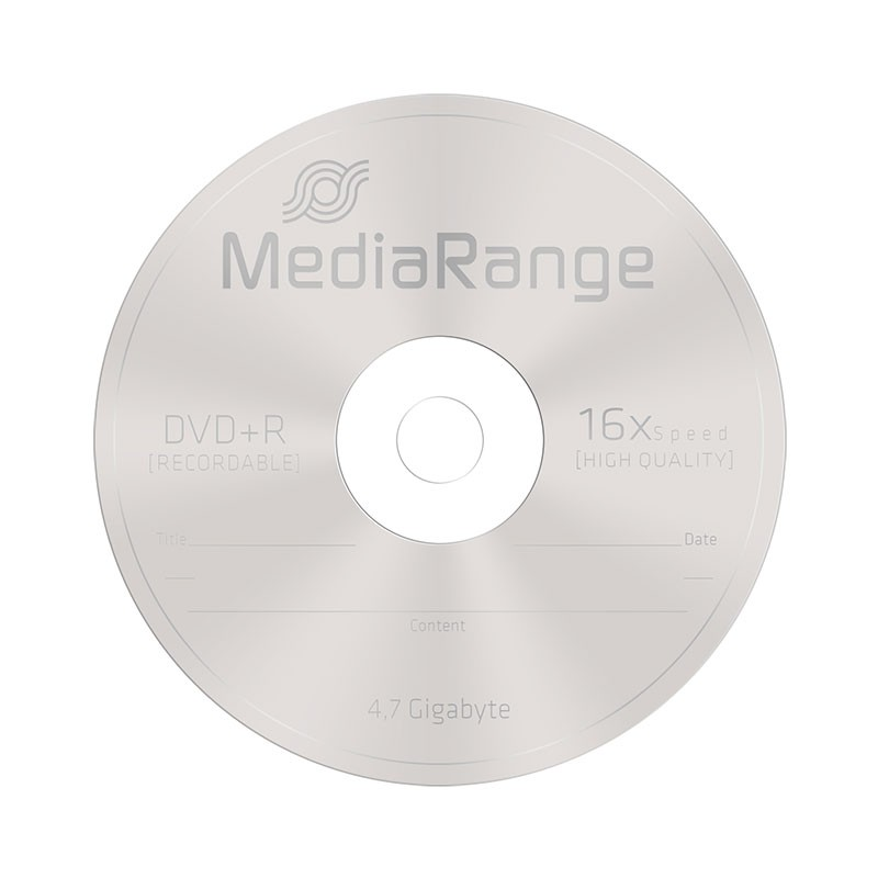 DVD+R 16X MediaRange MediaCase 25 uds