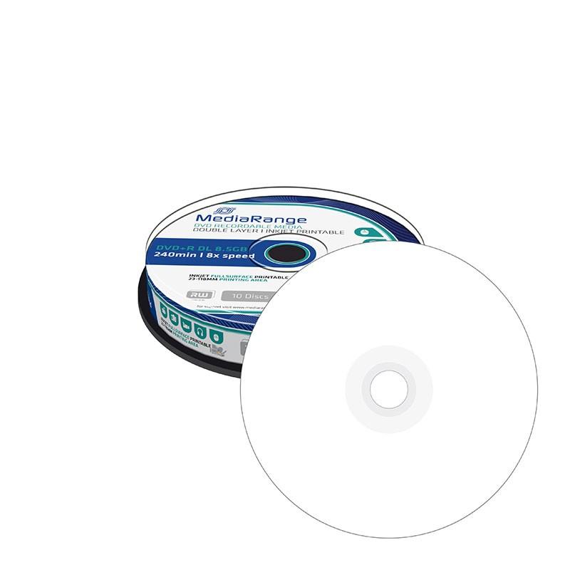 DVD+R Doble Capa 8X MediaRange FF Printable Tarrina 10 uds