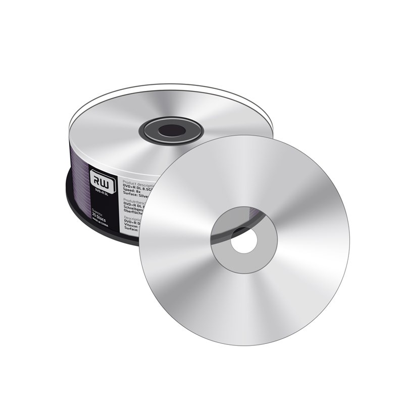 DVD+R Doble Capa 8X MediaRange Silver Thermal Tarrina 25 uds