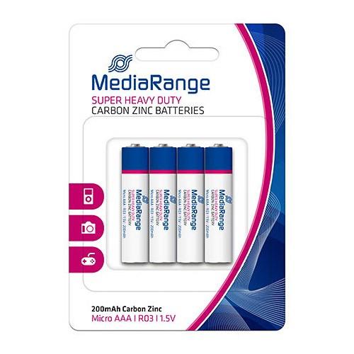 Pila Zinc-Carbon AAA MediaRange Pack 4 uds (R03)