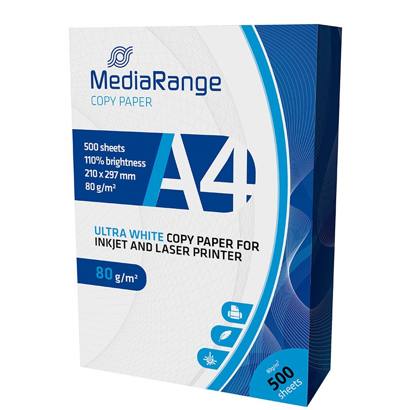 Papel Mate MediaRange DIN-A4 80g/m2 pack 500 pcs