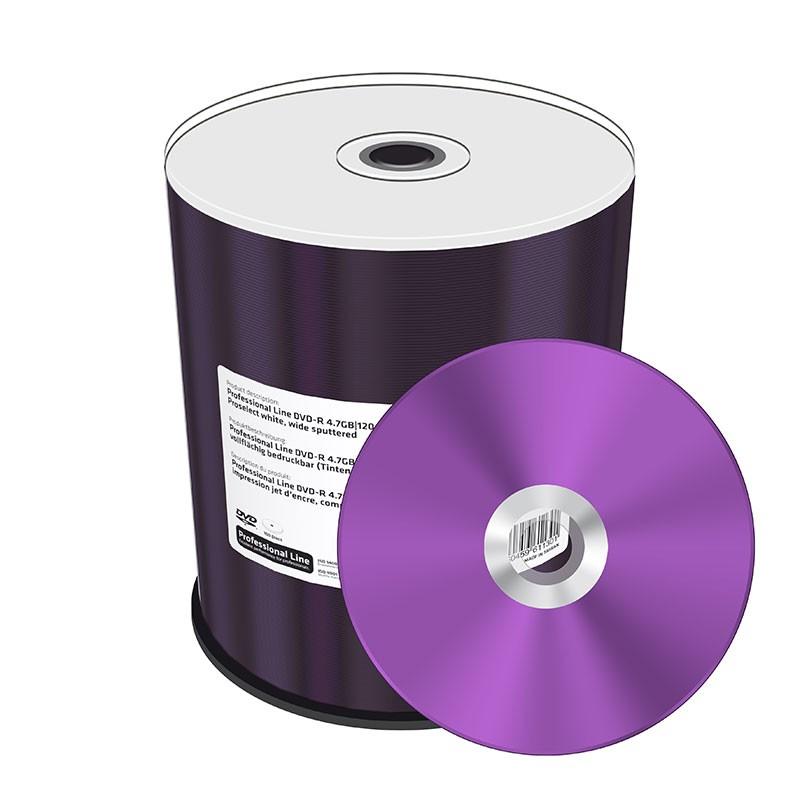DVD-R 16x Mediarange Prof.Line FF Printable Tarrina 100 uds