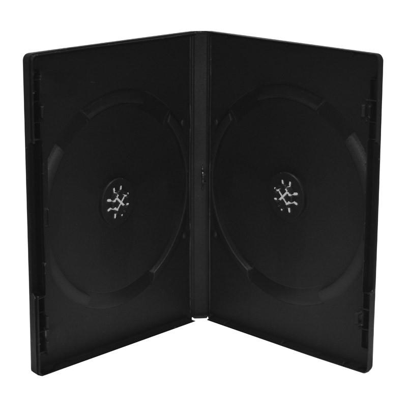 MediaRange Caja DVD Doble 14mm 5 uds - Negro