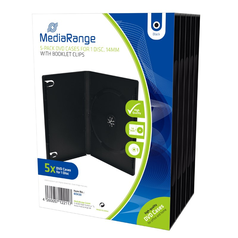 mediarange-dvd-case-14mm-5-pcs-black