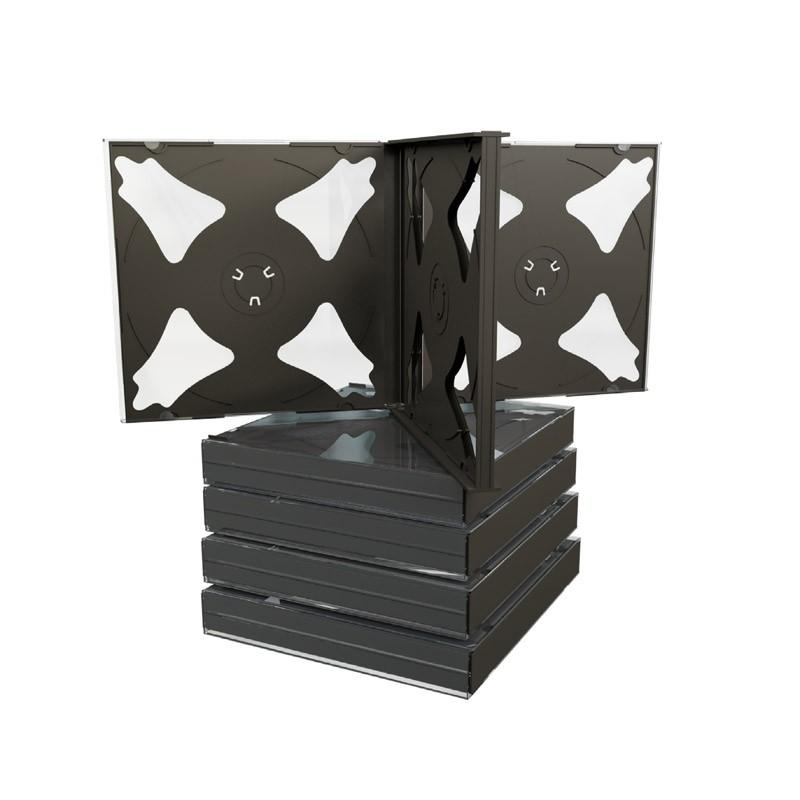 MediaRange Caja CD Jewel p/6 discos Pack 5 uds