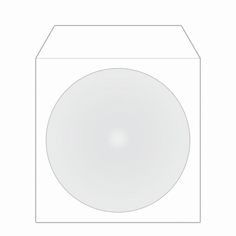 MediaRange Sobre de papel CD/DVD con Solapa y Ventana 50 uds
