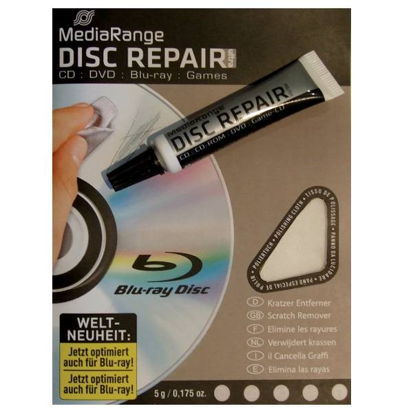 MediaRange Reparador de Discos CD/DVD/Bluray 5g