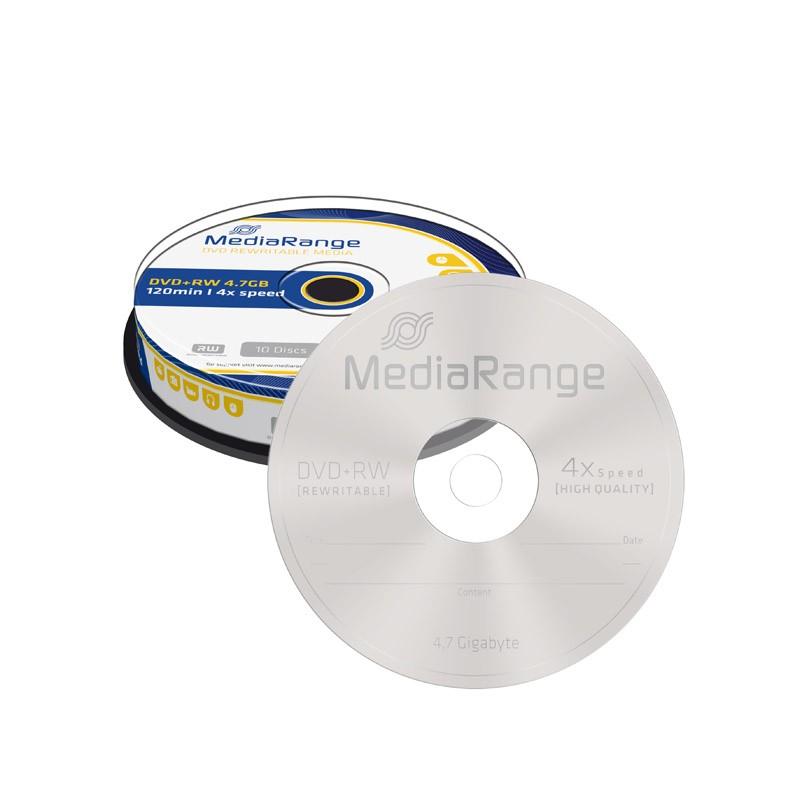 DVD+RW 4x MediaRange Tarrina 10 uds