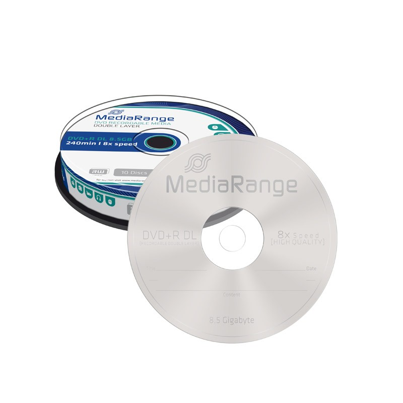 DVD+R Doble Capa 8X MediaRange Tarrina 10 uds