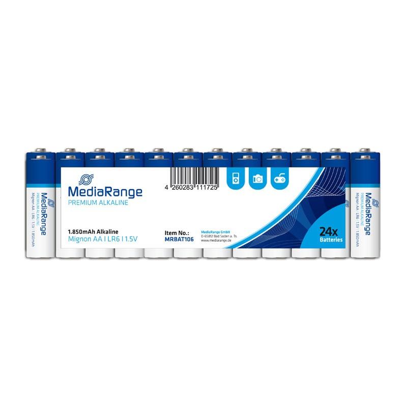 Pila Alcalina AA MediaRange pack 24 uds (LR6)