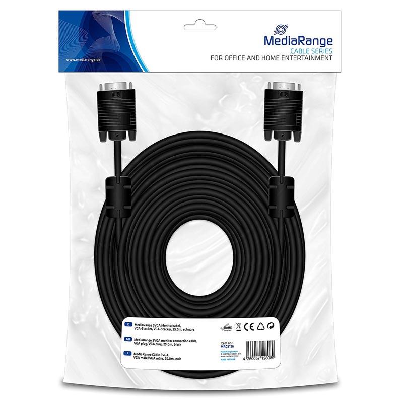 MediaRange - Cable S-VGA Macho / Macho 25 mts