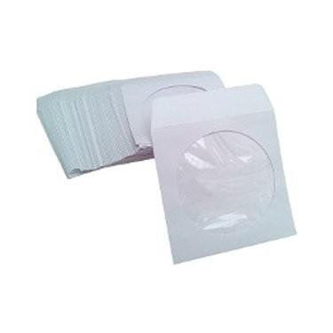 MediaRange Sobre Papel Mini CD/DVD (8cm) con Solapa-Ventana 50ud