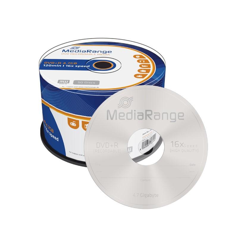 DVD+R 16X MediaRange Tarrina 50 uds