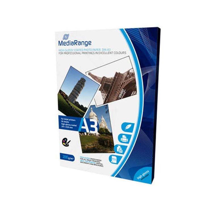 MediaRange Papel Foto Din A3 Alto Brillo Pack 50 uds