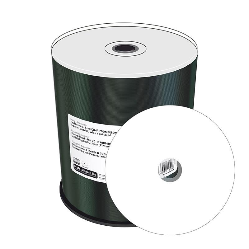 CD-R MediaRange Professional Line FF Inkjet Blanco 100 uds