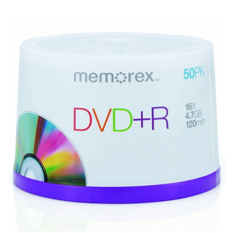 DVD+R 16x Memorex Tarrina 50uds