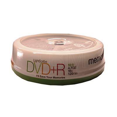 DVD+R 16x Memorex Lightscribe Tarrina 10 uds