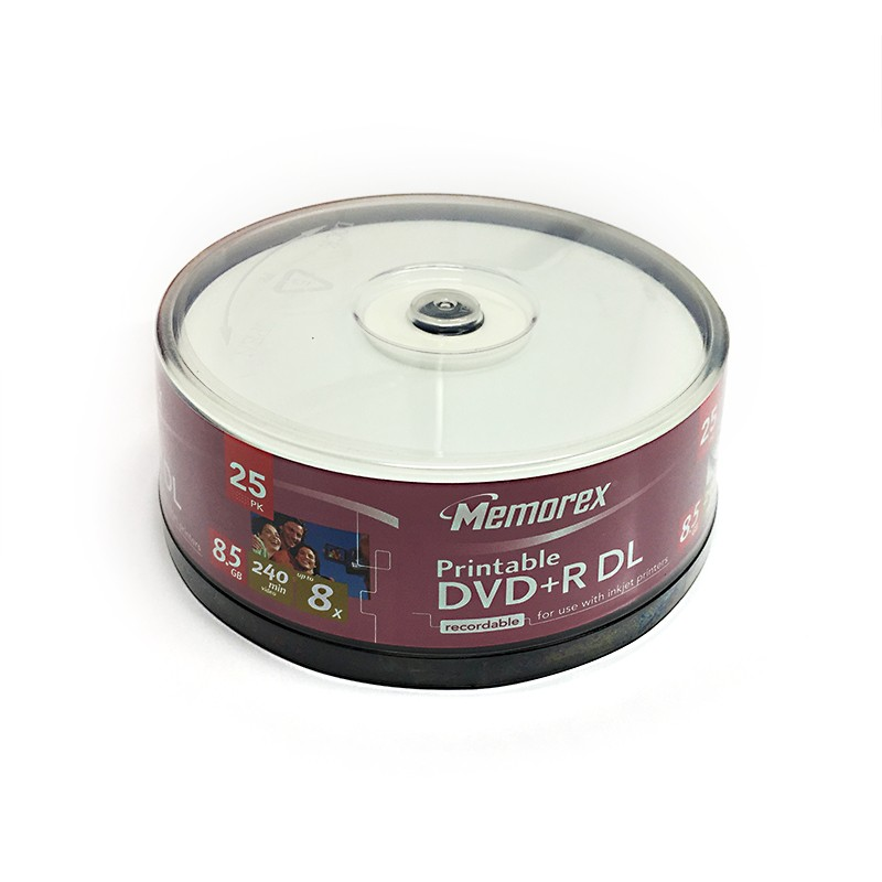 DVD+R Doble Capa 8x Memorex Printable Tarrina 25uds
