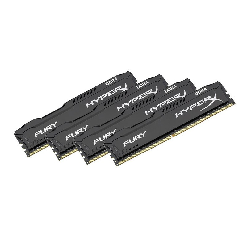 Memoria Kingston HyperX Fury Black 64GB (4x16) DDR4 2400MHz CL15 Dual Rank