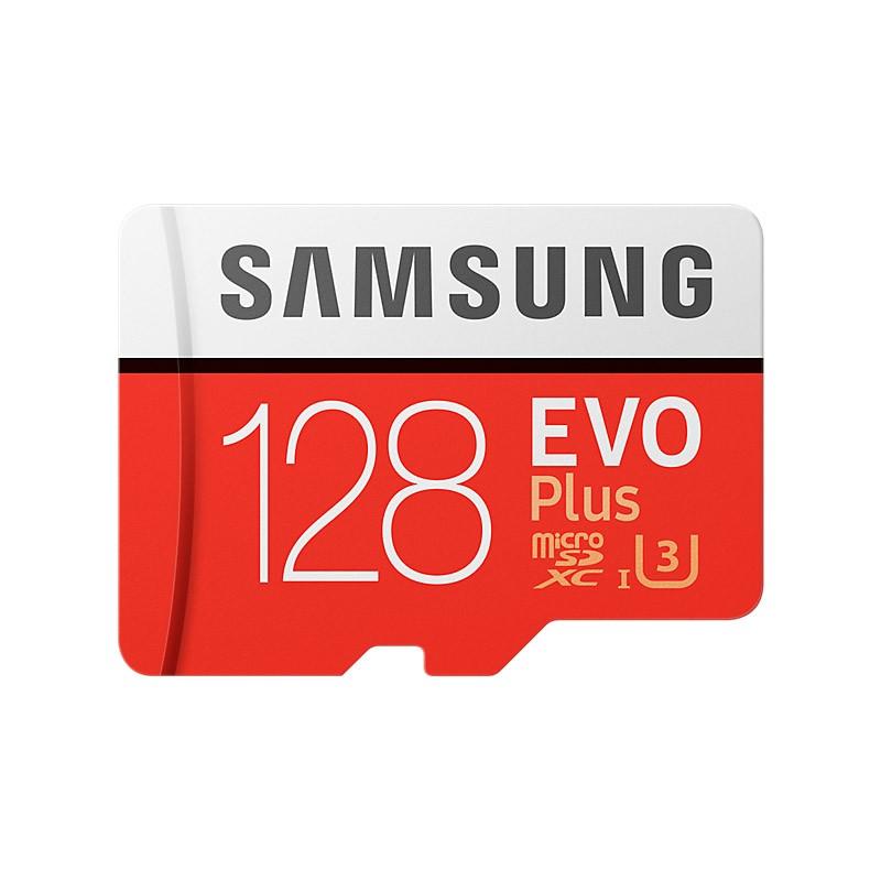 Tarjeta MicroSDXC 128GB Clase 10 UHS-I U3 Samsung EVO Plus c/Adapt - 2017